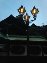 道後温泉・いい感じの電灯