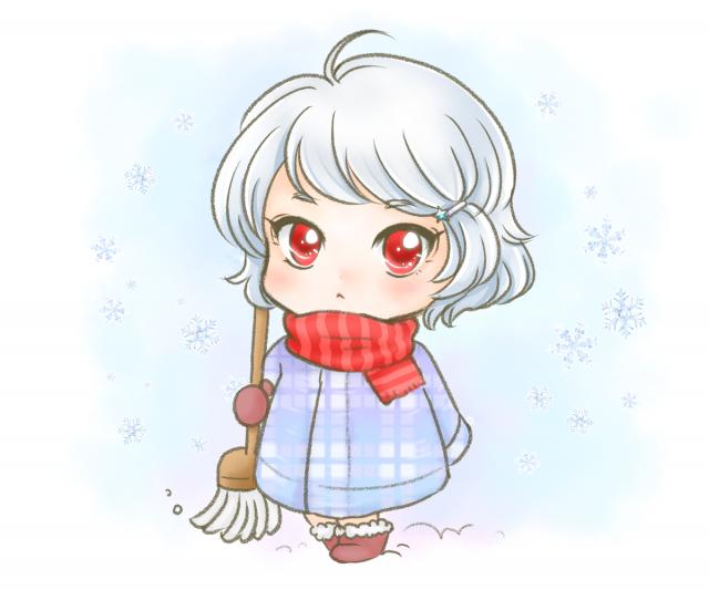 冬の女の子イラスト